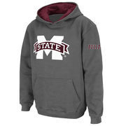 Youth Stadium Athletic Charcoal Mississippi State Bulldogs Big Logo Pullover Hoodie