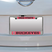Ohio State Buckeyes Small Over Large Mega License Plate Frame