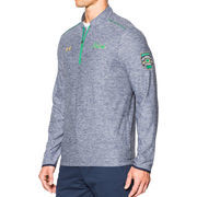Men's Under Armour Navy Notre Dame Fighting Irish Shamrock Lightweight 1/4 Zip Pullover Performance Jacket