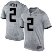Men's Nike No. 2 Gray Oregon Ducks Pioneers Jersey