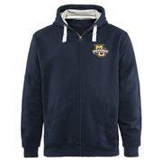 Mens Marquette Golden Eagles Navy Blue Gridiron Logo Lefty Full Zip Hoodie