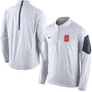Men's Nike White Syracuse Orange 2015 Football Coaches Sideline Half-Zip Wind Jacket