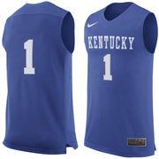 Men's Nike #1 Royal Kentucky Wildcats Replica Jersey