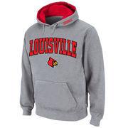Men's Stadium Athletic Gray Louisville Cardinals Arch & Logo Pullover Hoodie