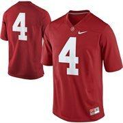 Nike Alabama Crimson Tide #4 Game Football Jersey - Crimson