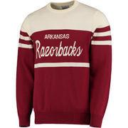 Men's Cardinal Arkansas Razorbacks Tailgate Crew Neck Sweater