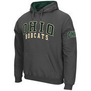 Men's Stadium Athletic Charcoal Ohio Bobcats Double Arches Pullover Hoodie