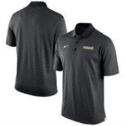Men's Nike Black Purdue Boilermakers Stadium Stripe Performance Polo