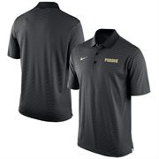 Men's Nike Black Purdue Boilermakers Stadium Stripe Performance Polo