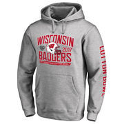 Men's Fanatics Branded Heather Gray Wisconsin Badgers 2017 Cotton Bowl Bound Playbook Pullover Hoodie