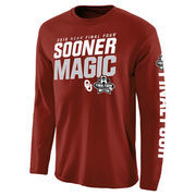 Men's Crimson Oklahoma Sooners 2016 NCAA Men's Basketball Tournament Final Four Bound Swish Long Sleeve T-Shirt
