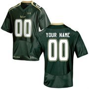 Under Armour South Florida Bulls Custom Men's Replica Jersey - Green