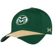Men's Under Armour Green Colorado State Rams Sideline Renegade Accent Performance Adjustable Hat
