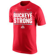 Men's Nike Scarlet Ohio State Buckeyes 2016 College Football Playoff Bound Buckeye Strong T-Shirt