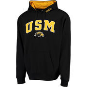 Men's Black Southern Miss Golden Eagles Eagle Head Arch & Logo Pullover Hoodie