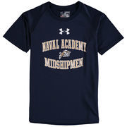 Youth Under Armour Navy Navy Midshipmen Nu Tech T-Shirt