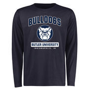 Men's Navy Butler Bulldogs Campus Icon Long Sleeve T-Shirt