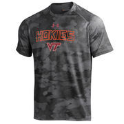 Men's Under Armour Black Virginia Tech Hokies Tech Camo Performance T-Shirt
