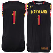 Youth Under Armour #15 Black Maryland Terrapins Performance Replica Basketball Jersey