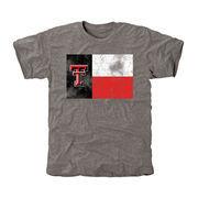Men's Ash Texas Tech Red Raiders State Flag Tri-Blend T-Shirt