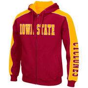 Men's Colosseum Cardinal/Gold Iowa State Cyclones Thriller II Full-Zip Hoodie