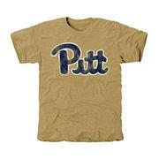 Men's Khaki Pitt Panthers Classic Wordmark Tri-Blend T-Shirt