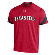 Men's Under Armour Red Texas Tech Red Raiders 2016 Sideline Microstripe Performance T-Shirt