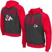 Men's Colosseum Black Fresno State Bulldogs Crest Full Zip Hoodie