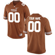Nike Mens Texas Longhorns Custom Replica Football Jersey - Tex Orange