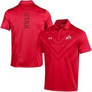 Men's Under Armour Red Utah Utes 2015 Coaches Sideline Scout Polo