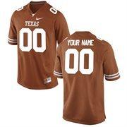 Nike Mens Texas Longhorns Custom Replica Football Jersey - Tex Orange