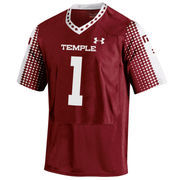 Men's Under Armour Temple Owls #1 Temple Owls Replica Football Jersey