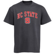 Mens Charcoal NC State Wolfpack Arch Over Logo T-Shirt