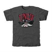 UNLV Rebels Distressed Secondary Tri-Blend T-Shirt - Charcoal