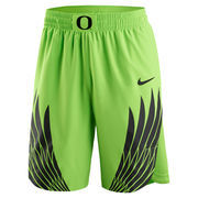 Men's Nike Neon Green Oregon Ducks Disruption Authentic Basketball Shorts