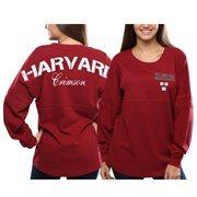 Women's Harvard Crimson Red Pom Pom Jersey Oversized Long Sleeve T-Shirt