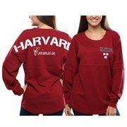 Women's Harvard Crimson Red Pom Pom Jersey Oversized Long Sleeve T-Shirt