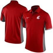 Men's Nike Crimson Washington State Cougars Team Issue Performance Polo