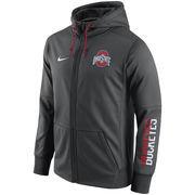 Men's Nike Anthracite Ohio State Buckeyes Circuit Full-Zip Performance Hoodie