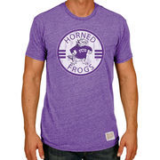 Men's Original Retro Brand Heather Purple TCU Horned Frogs Logo Vintage Tri-Blend T-Shirt