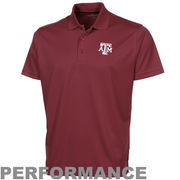 Texas A&M Aggies Omega Solid Mesh Tech Performance Polo - Maroon