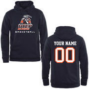 UTEP Miners Personalized Basketball Pullover Hoodie - Navy Blue