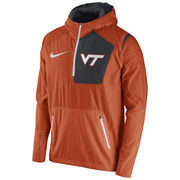 Men's Nike Orange Virginia Tech Hokies 2016 Sideline Vapor Fly Rush Half-Zip Pullover Jacket