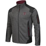 Men's Colosseum Charcoal Texas A&M Aggies Double Coverage Full Zip Jacket