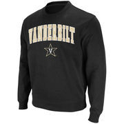 Men's Stadium Athletic Black Vanderbilt Commodores Arch & Logo Crew Pullover Sweatshirt