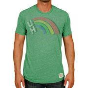 Men's Original Retro Brand Heather Green Hawaii Warriors Vintage Rainbow Tri-Blend T-Shirt