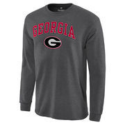 Men's Charcoal Georgia Bulldogs Campus Long Sleeve T-Shirt
