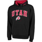 Men's Black Utah Utes Arch & Logo Pullover Hoodie