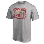 Men's Fanatics Branded Heather Gray Florida State Seminoles 2016 Orange Bowl Bound Playbook T-Shirt