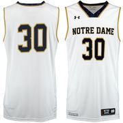 Youth Under Armour #30 White Notre Dame Fighting Irish Performance Replica Basketball Jersey